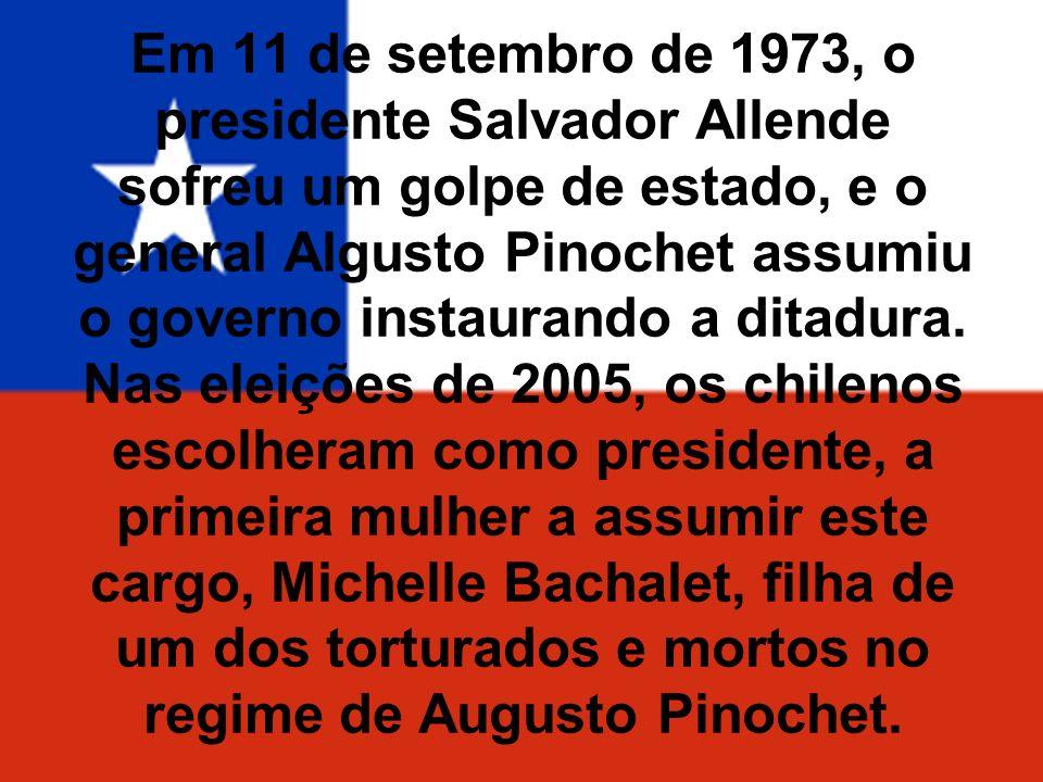 Em 11 de setembro de 1973, o presidente Salvador Allende sofreu um golpe de estado, e o general Algusto Pinochet assumiu o governo instaurando a ditadura.