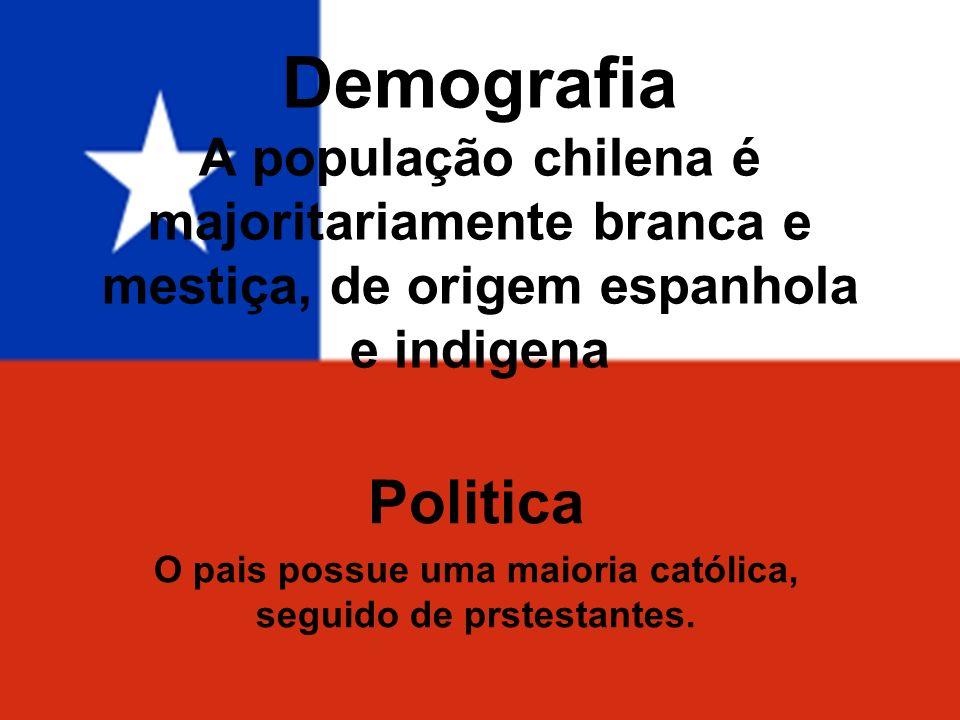 Politica O pais possue uma maioria católica, seguido de prstestantes.