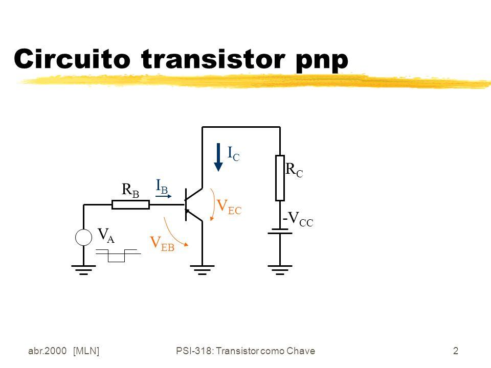 Circuito transistor pnp