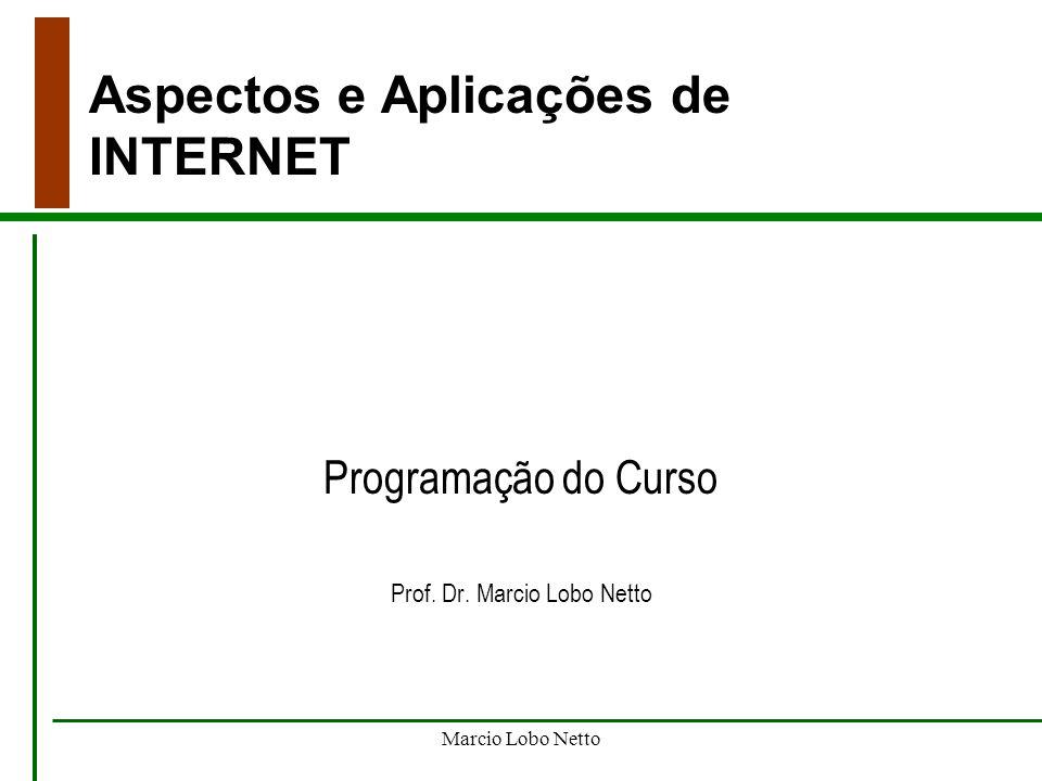 Aspectos e Aplicações de INTERNET