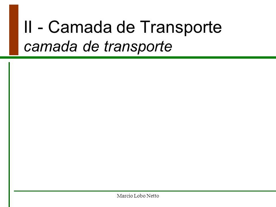 II - Camada de Transporte camada de transporte