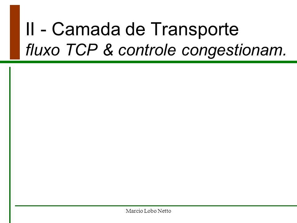 II - Camada de Transporte fluxo TCP & controle congestionam.
