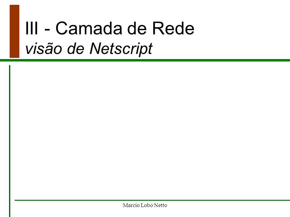 III - Camada de Rede visão de Netscript