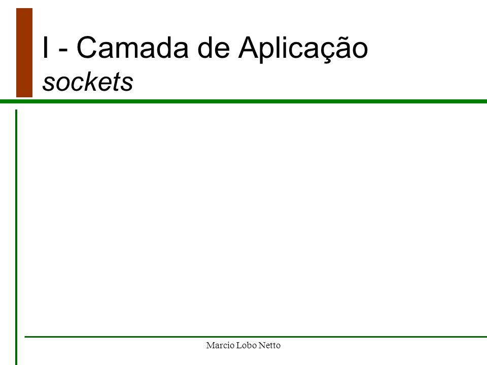 I - Camada de Aplicação sockets