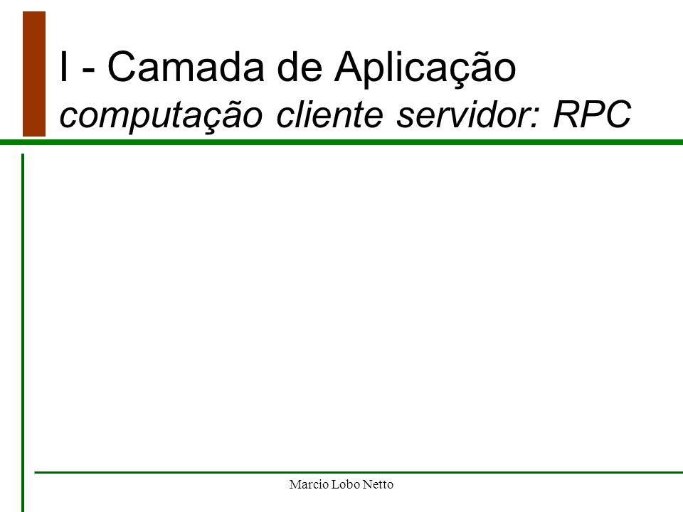 I - Camada de Aplicação computação cliente servidor: RPC