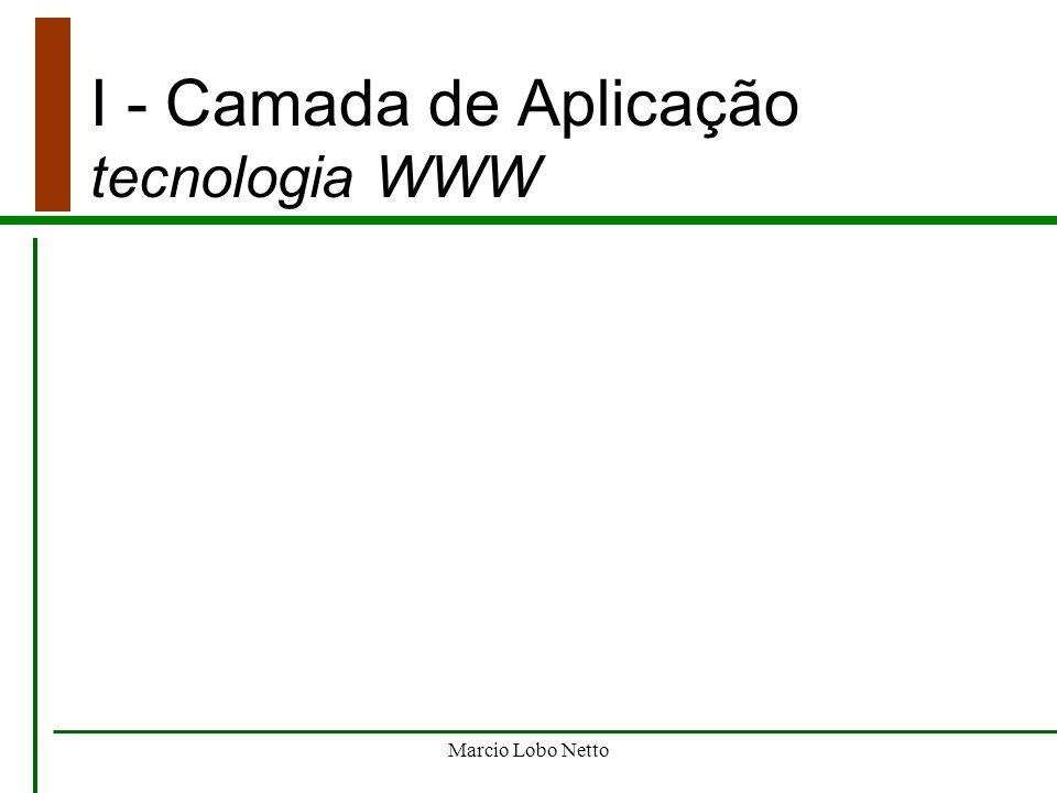 I - Camada de Aplicação tecnologia WWW