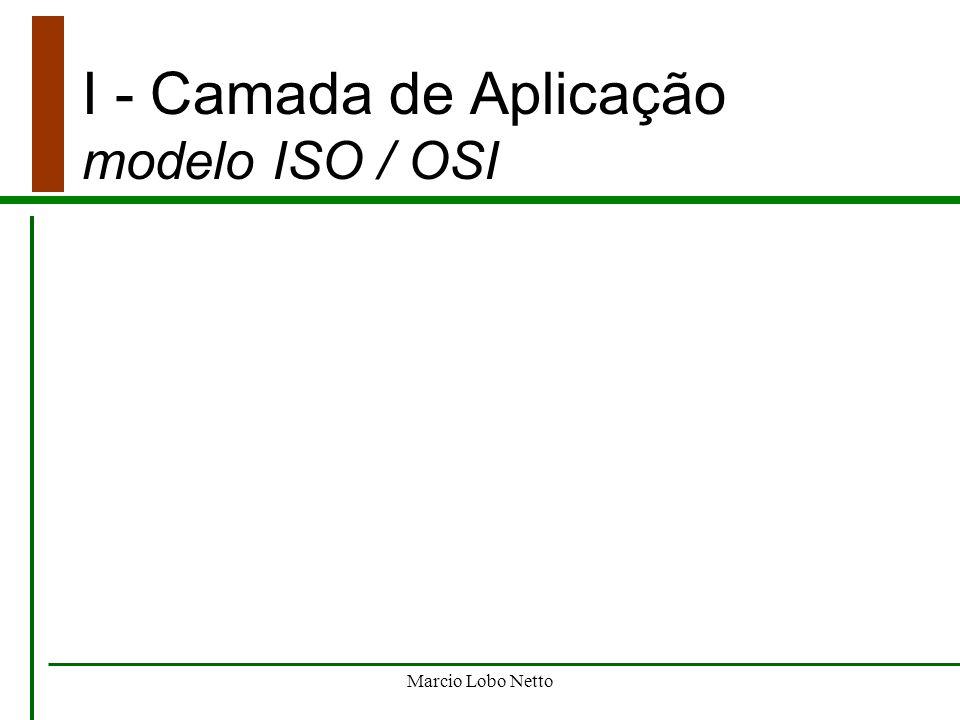 I - Camada de Aplicação modelo ISO / OSI