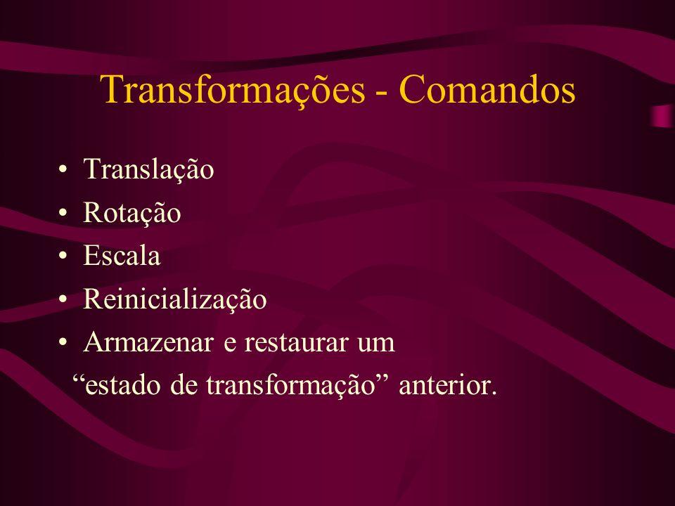 Transformações - Comandos
