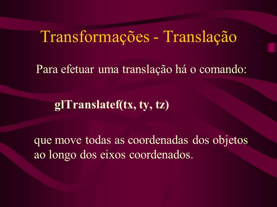 Transformações - Translação