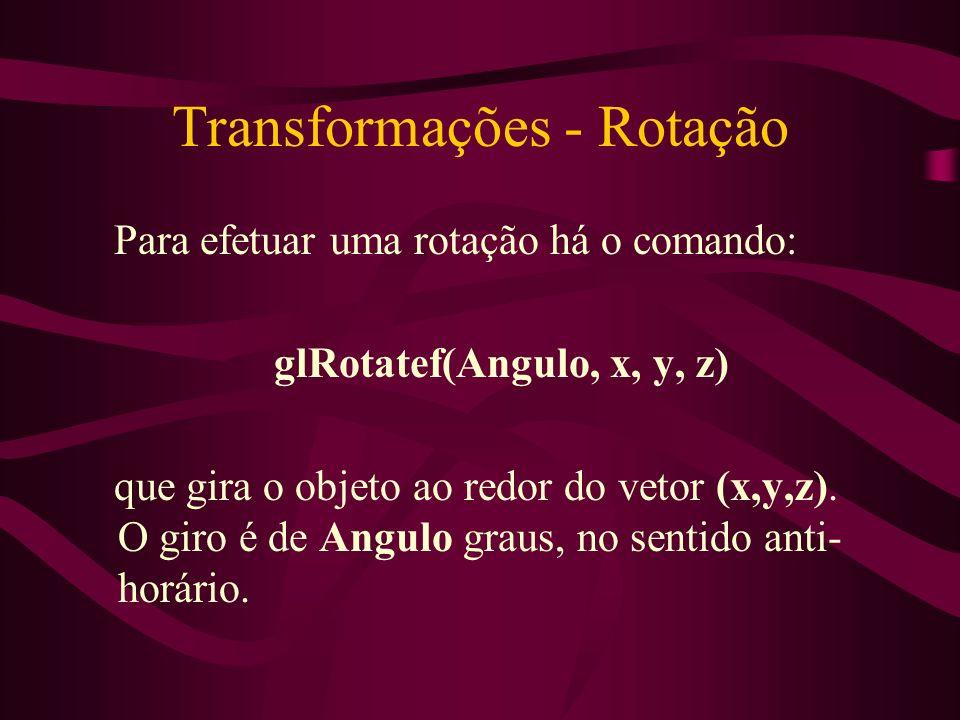Transformações - Rotação