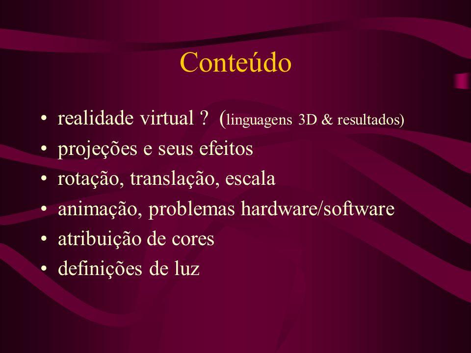 Conteúdo realidade virtual (linguagens 3D & resultados)