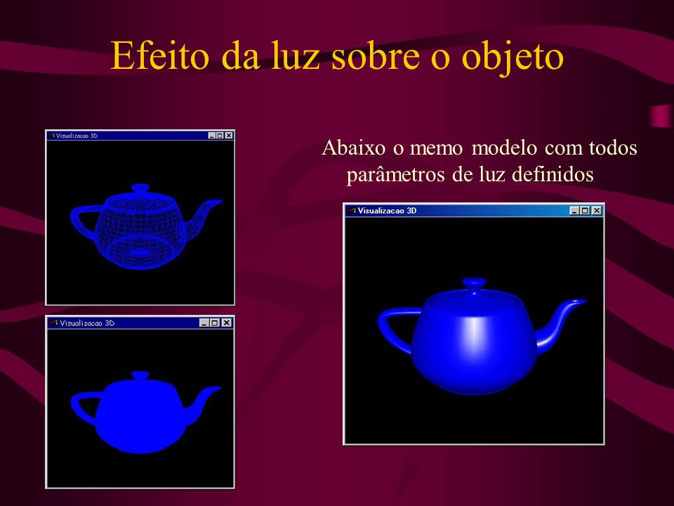 Efeito da luz sobre o objeto