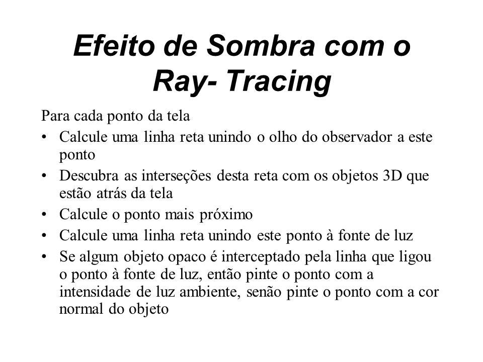 Efeito de Sombra com o Ray- Tracing