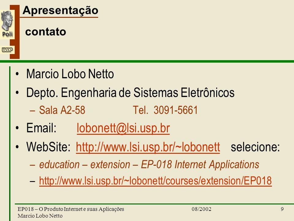 Depto. Engenharia de Sistemas Eletrônicos