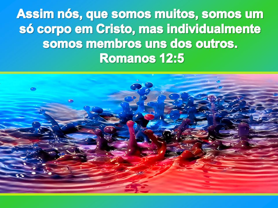Assim nós, que somos muitos, somos um só corpo em Cristo, mas individualmente somos membros uns dos outros.