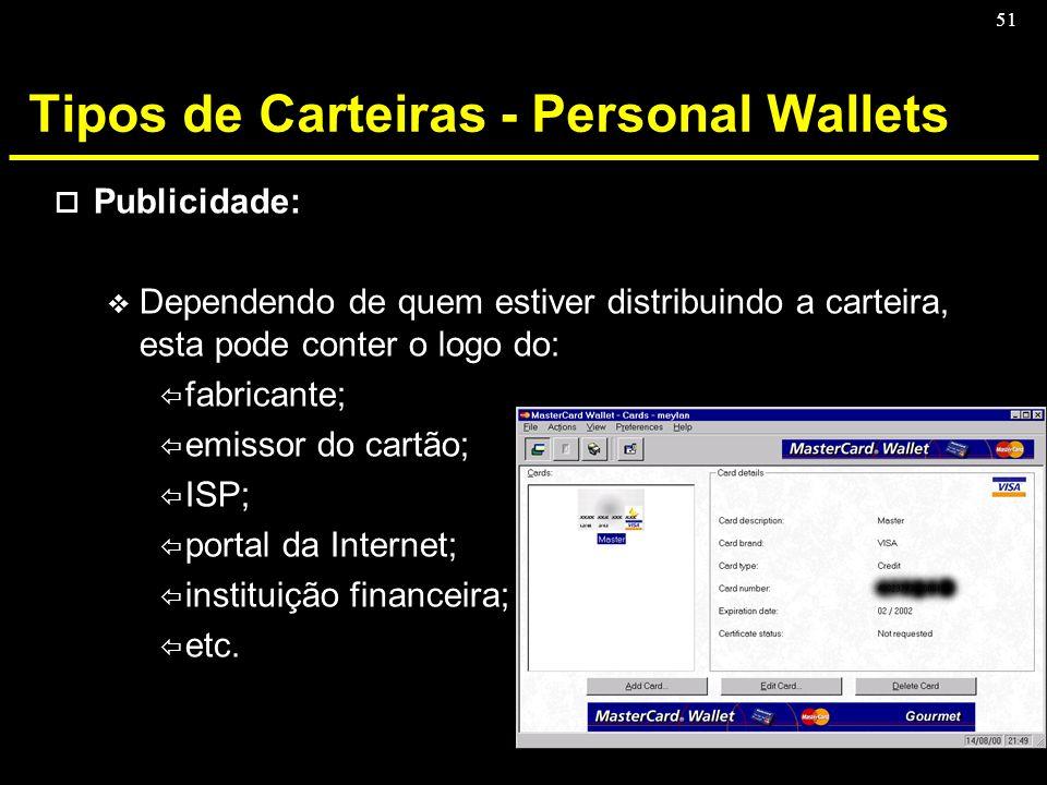 Tipos de Carteiras - Personal Wallets