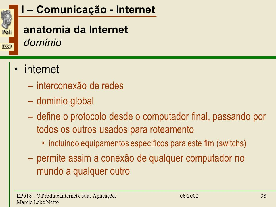 anatomia da Internet domínio