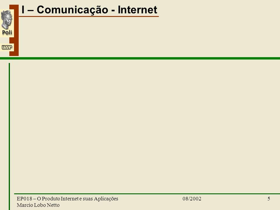 EP018 – O Produto Internet e suas Aplicações Marcio Lobo Netto