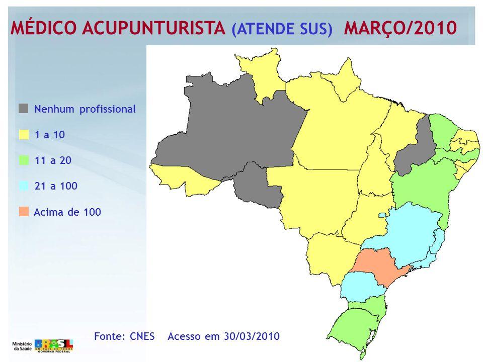 MÉDICO ACUPUNTURISTA (ATENDE SUS) MARÇO/2010