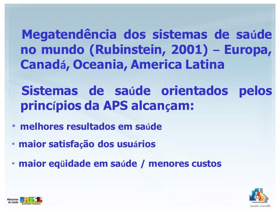 Sistemas de saúde orientados pelos princípios da APS alcançam: