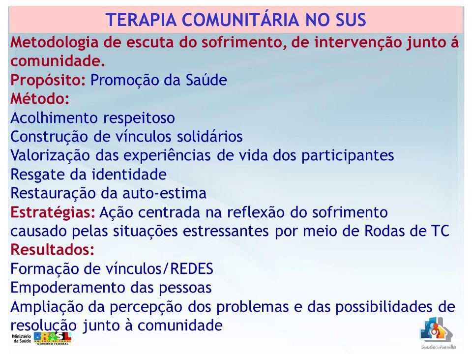 TERAPIA COMUNITÁRIA NO SUS