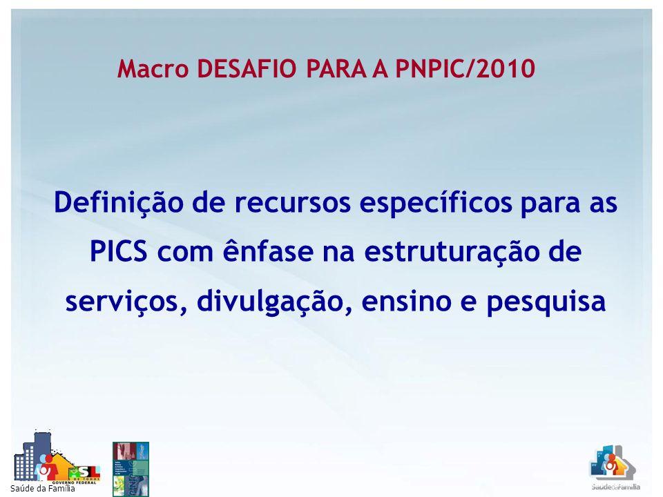 Macro DESAFIO PARA A PNPIC/2010
