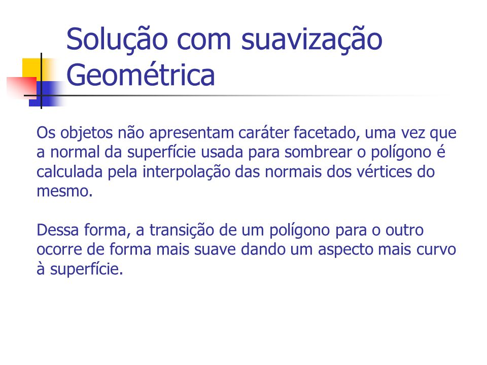 Solução com suavização Geométrica