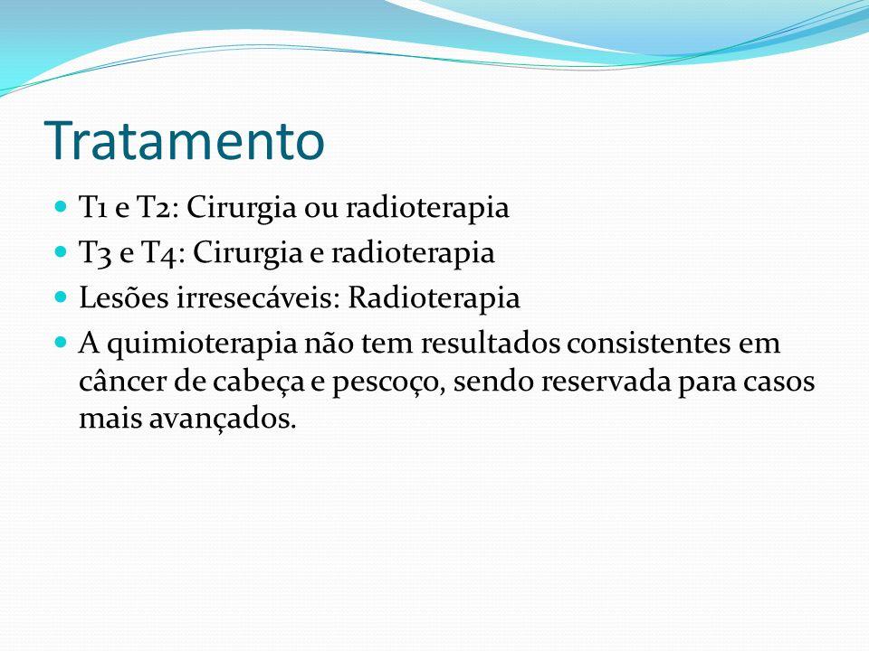 Tratamento T1 e T2: Cirurgia ou radioterapia