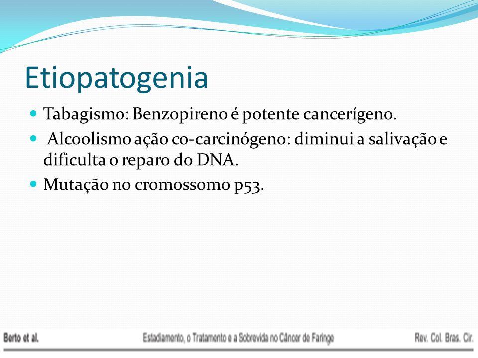 Etiopatogenia Tabagismo: Benzopireno é potente cancerígeno.