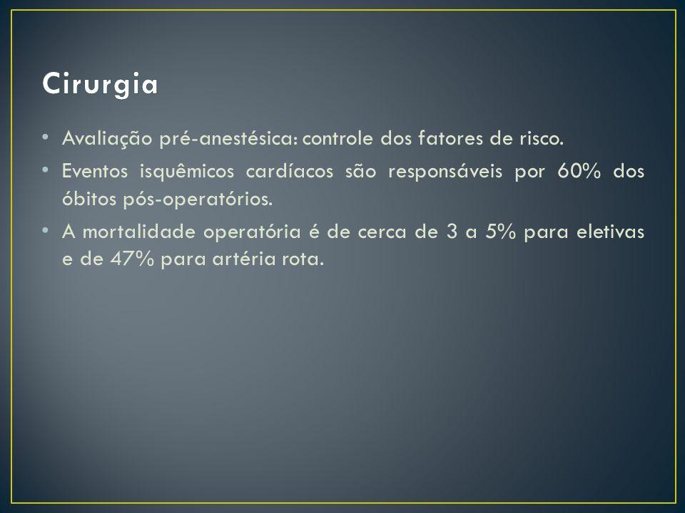 Cirurgia Avaliação pré-anestésica: controle dos fatores de risco.