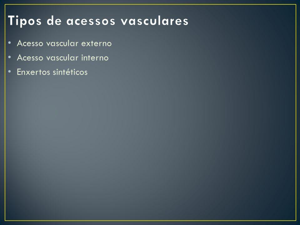 Tipos de acessos vasculares