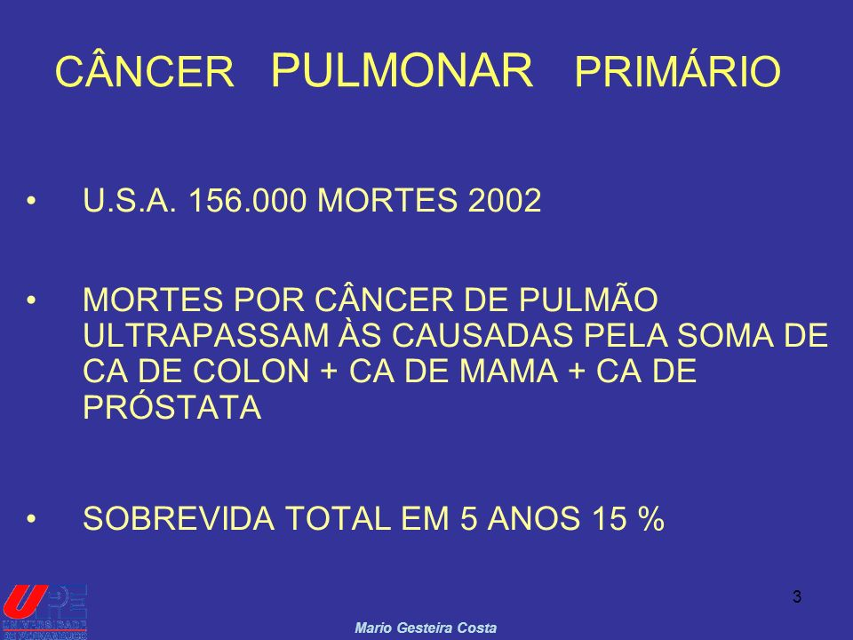 CÂNCER PULMONAR PRIMÁRIO