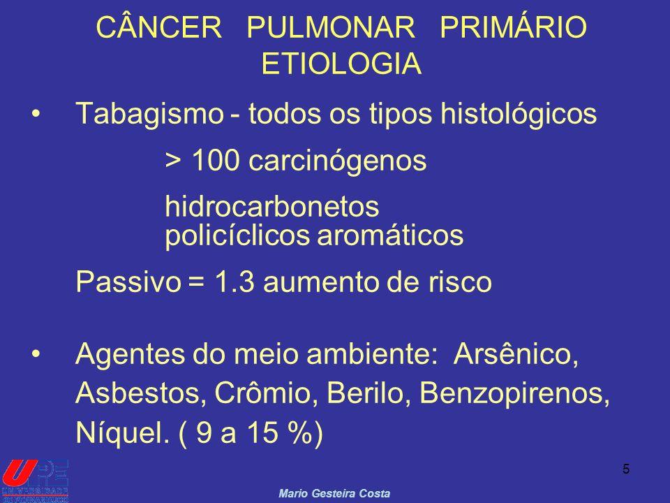 CÂNCER PULMONAR PRIMÁRIO ETIOLOGIA