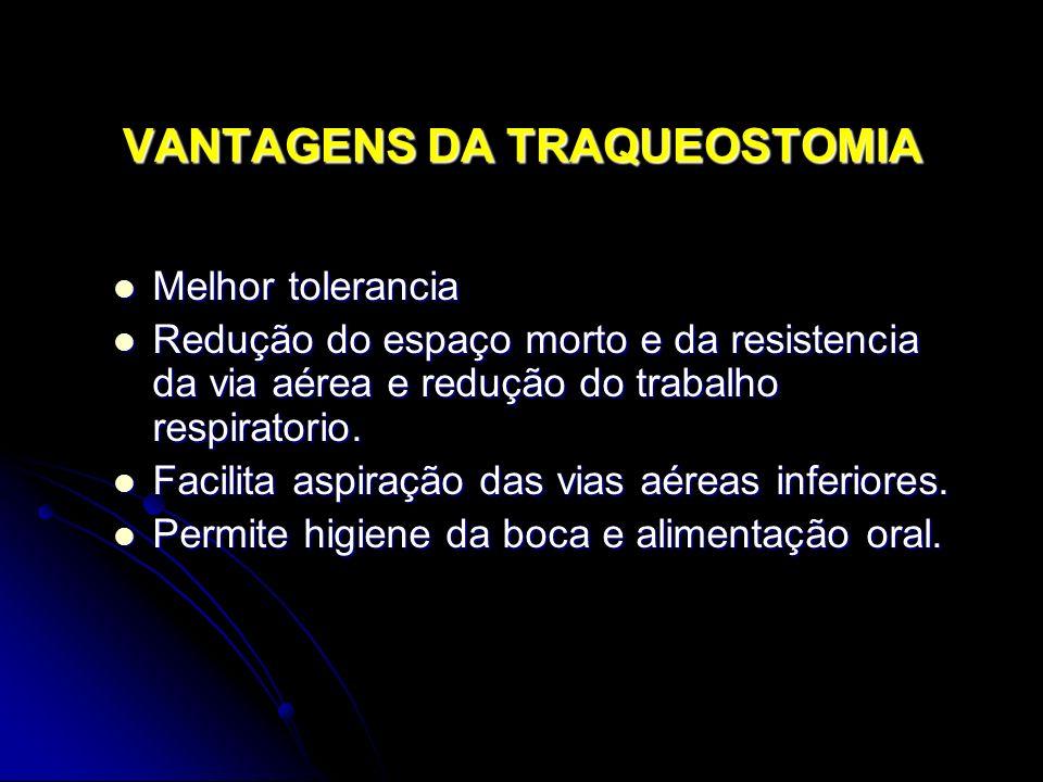 VANTAGENS DA TRAQUEOSTOMIA