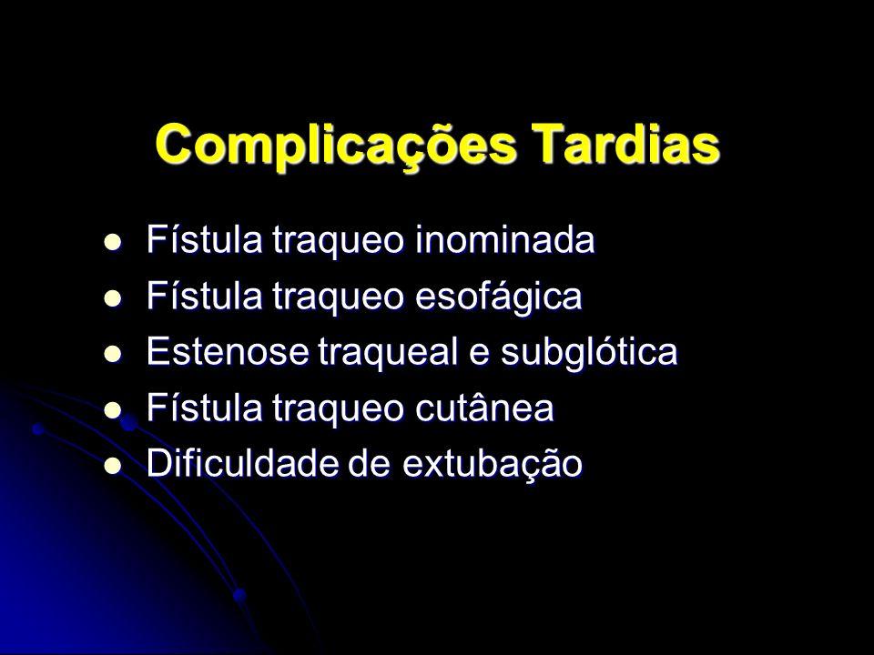 Complicações Tardias Fístula traqueo inominada