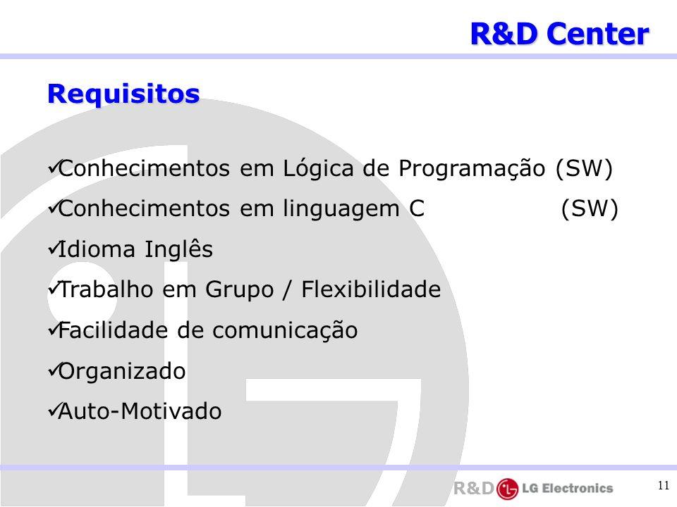 R&D Center Requisitos Conhecimentos em Lógica de Programação (SW)