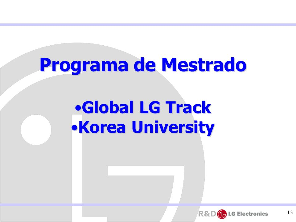 Programa de Mestrado Global LG Track Korea University