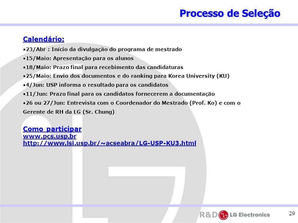 Processo de Seleção Calendário: Como participar www.pcs.usp.br