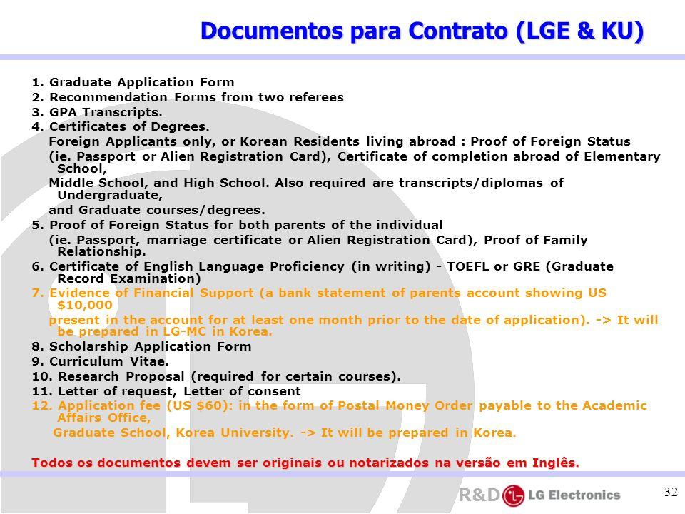 Documentos para Contrato (LGE & KU)