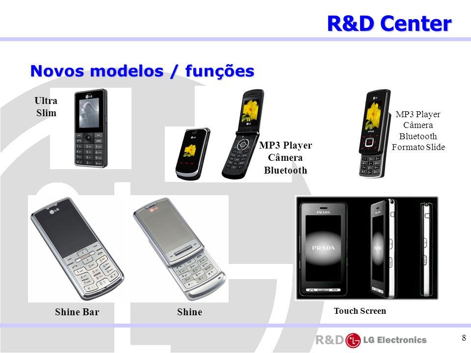 R&D Center Novos modelos / funções Ultra Slim MP3 Player Câmera