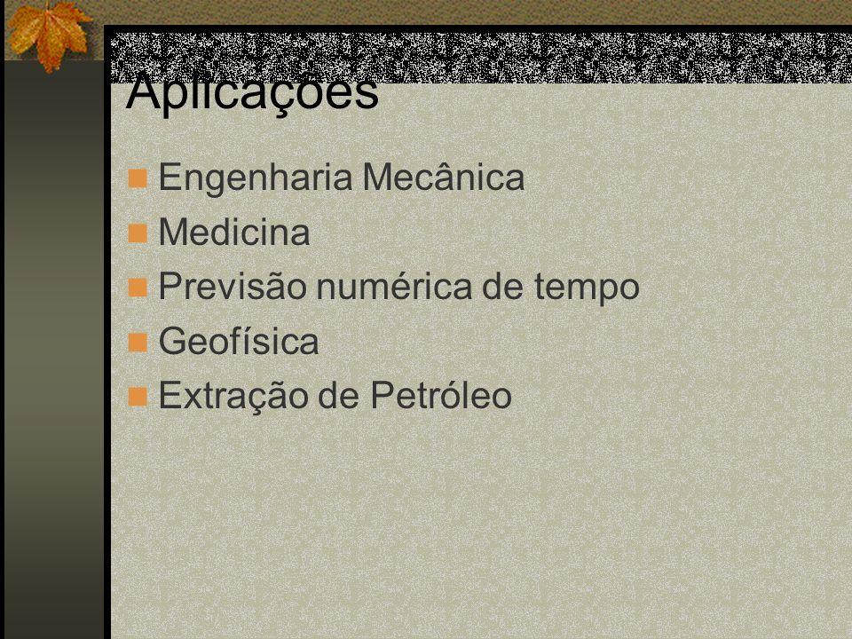 Aplicações Engenharia Mecânica Medicina Previsão numérica de tempo