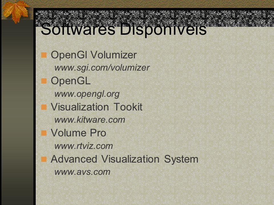Softwares Disponíveis