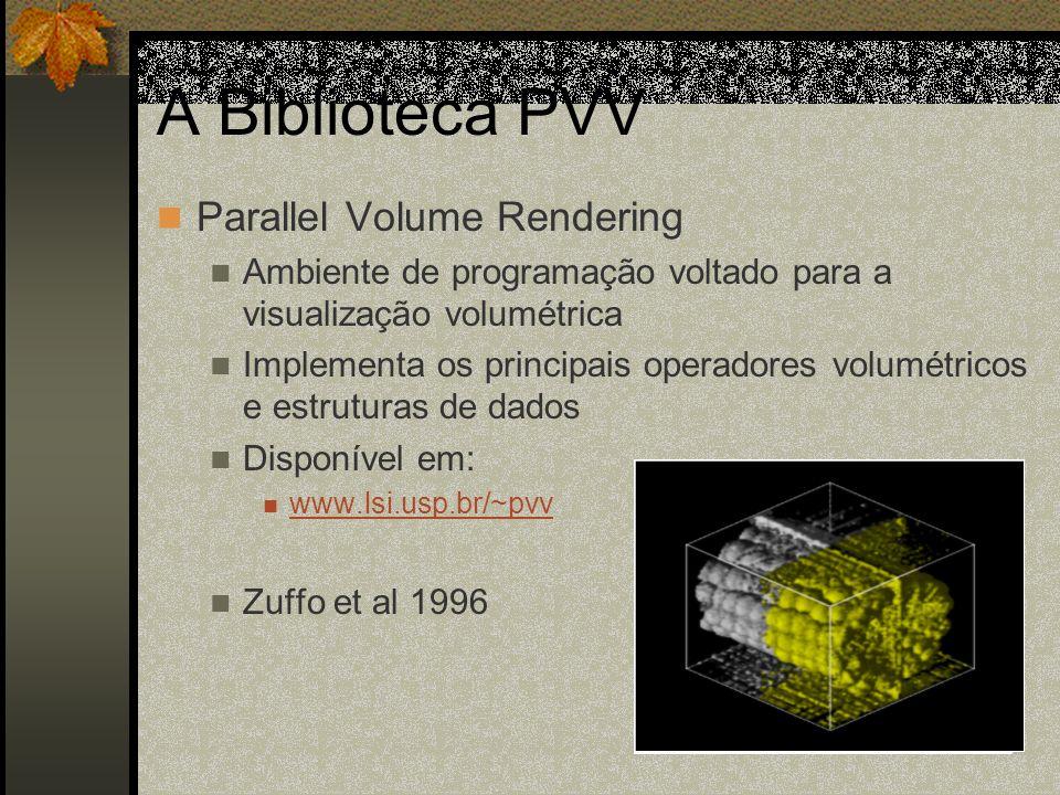 A Biblioteca PVV Parallel Volume Rendering