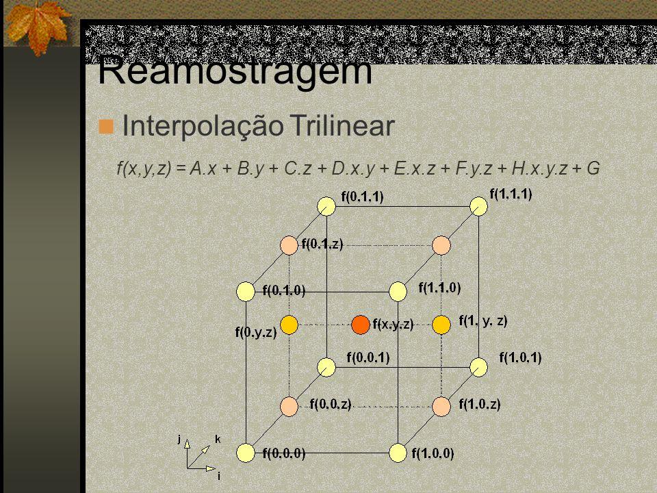 Reamostragem Interpolação Trilinear