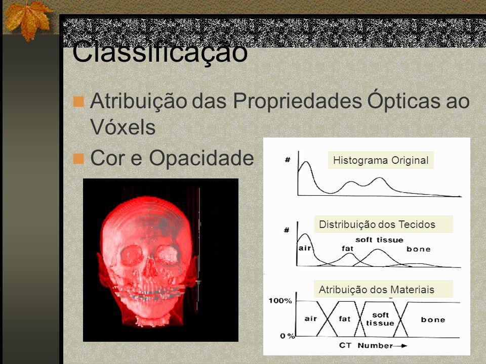 Classificação Atribuição das Propriedades Ópticas ao Vóxels
