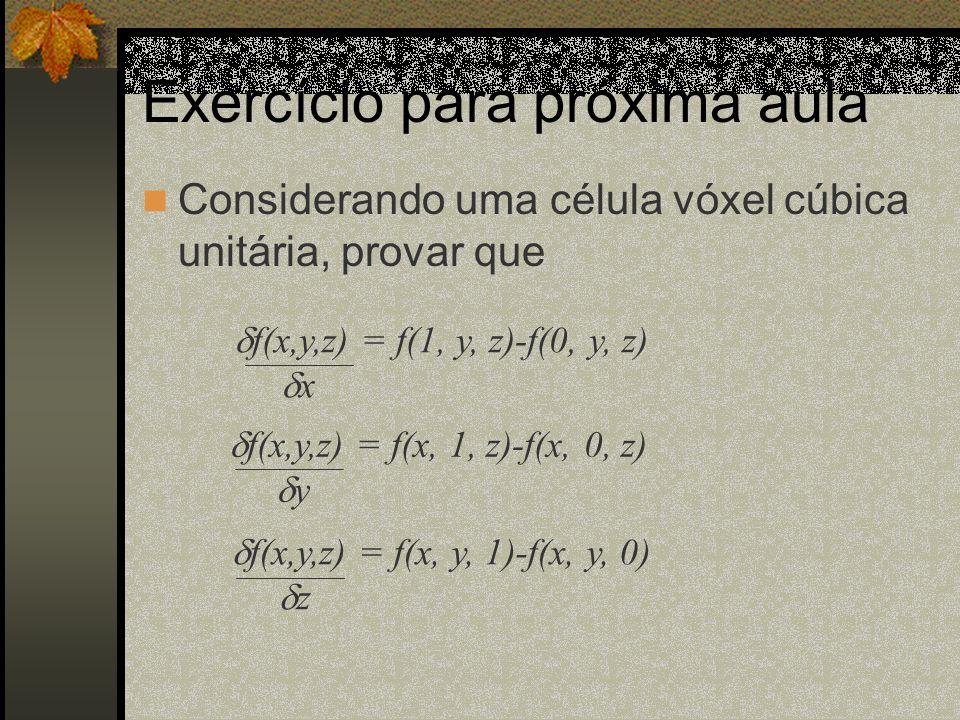 Exercício para próxima aula