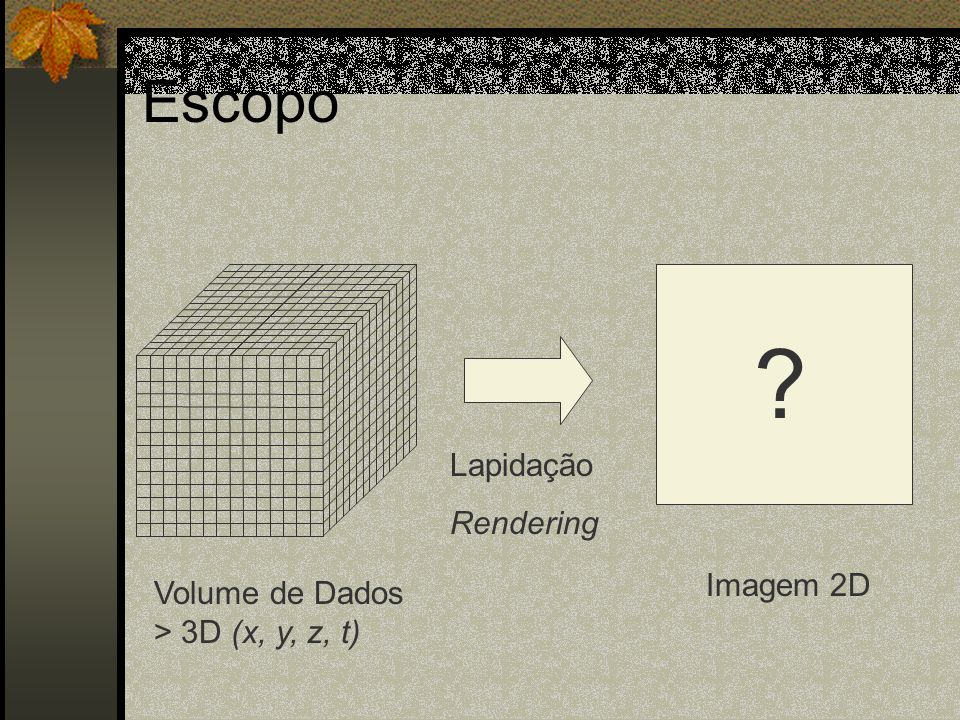 Escopo Lapidação Rendering Imagem 2D