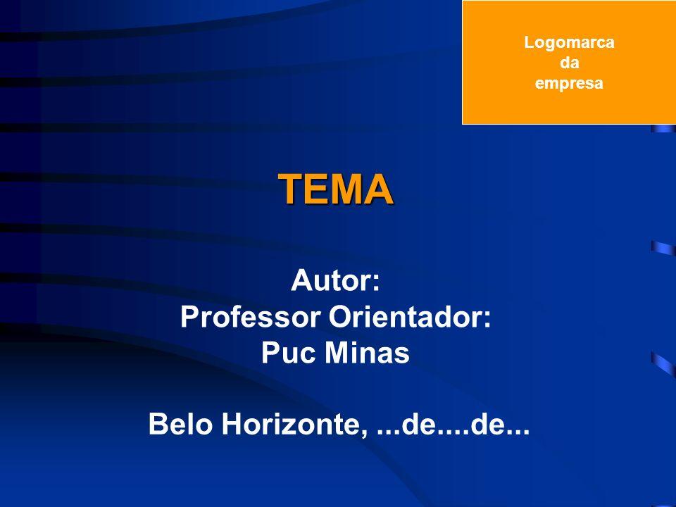 Professor Orientador: