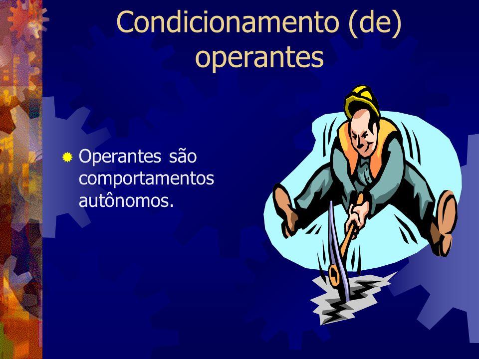 Condicionamento (de) operantes
