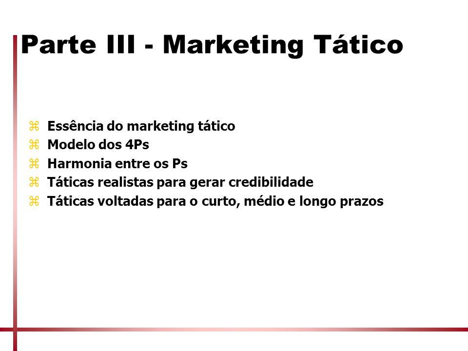 Parte III - Marketing Tático
